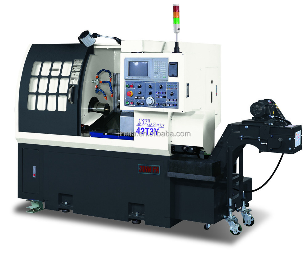 JCL-42T3Y taiwan turret type slant bed cnc lathe machine