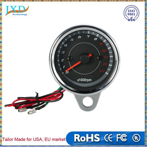 12V Universal Motorcycle Tachometer Meter LED Backlight 13K RPM Shift Professional Accessories Equipment