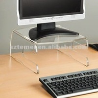 novel clear acrylic computer monitor stand with keyboard holder