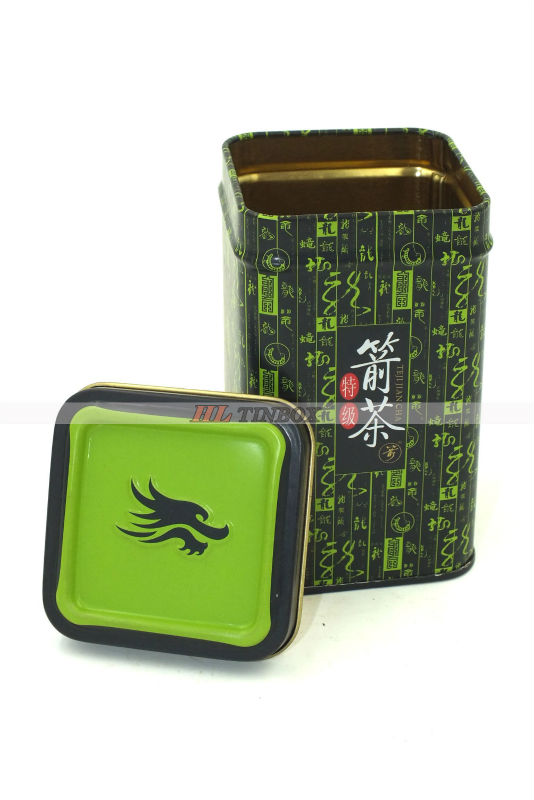 Square Tea Tin Can