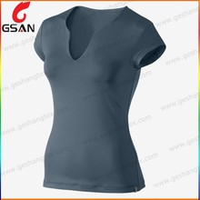 Fashion V-neck women tshirt