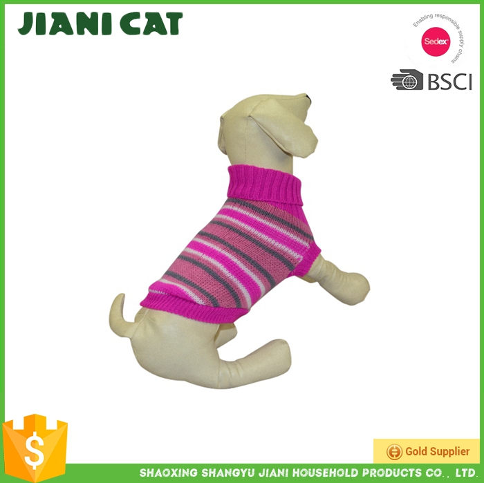 striated fashion pet supply dog sweater