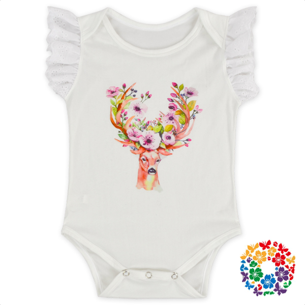 White Raglan Sleeve Romper 0-6 Years Old Newborn Baby Bodysuit Children Clothes