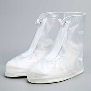 ladies anti slip reusable rain clear outdoor plastic shoe covers
