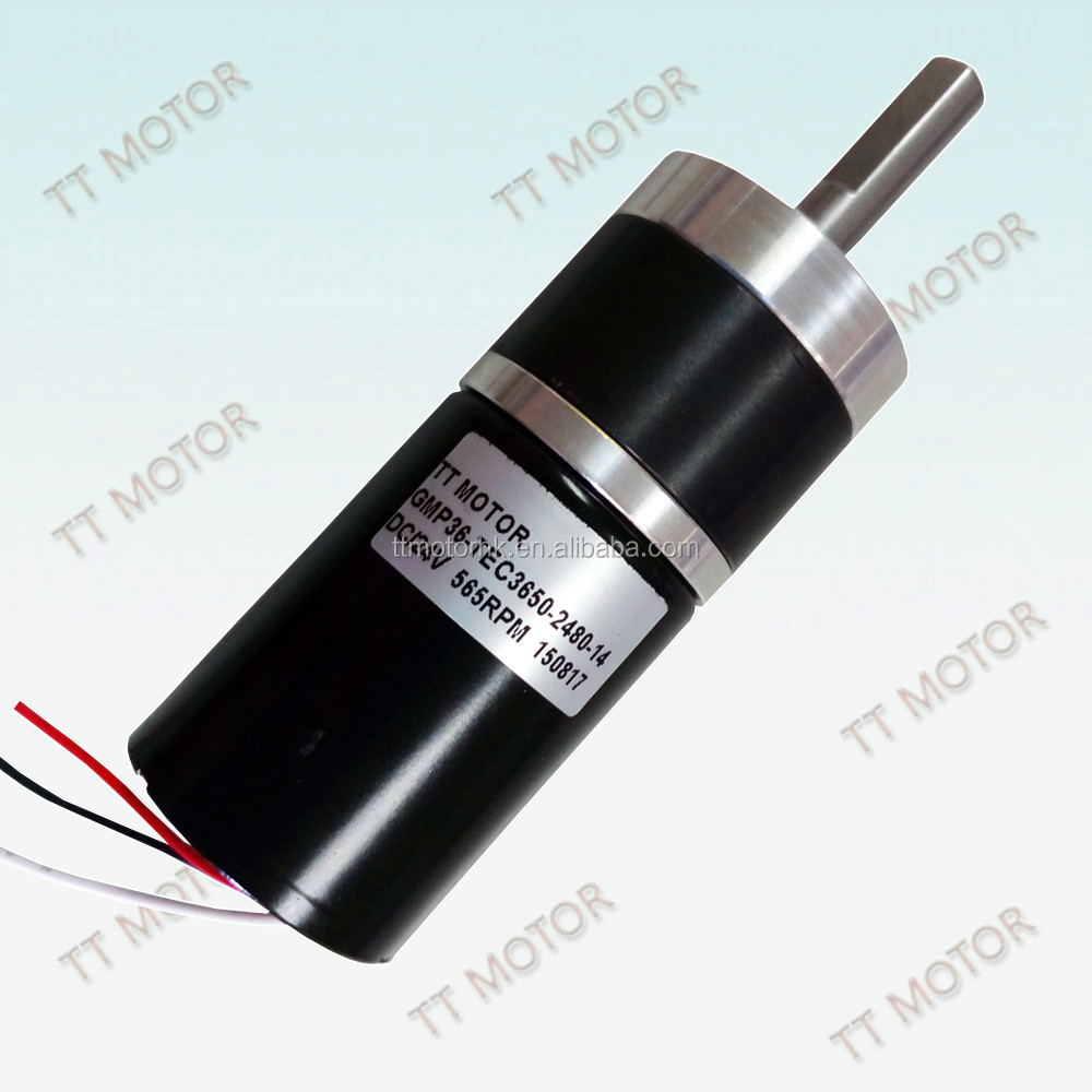 24v 36mm brush less dc micro generator motor with gearbox