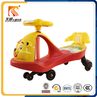 2017 EN71 good toy gift new plastic kids swing toy car for big baby wiggle car