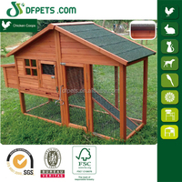 DFPets DFC040 Hen House Chicken Coop Hutch Wood Rabbit Wooden Cage Pet Box Yard Home Run Dog
