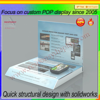 pos super quality counter acrylic mobile accessories display stand