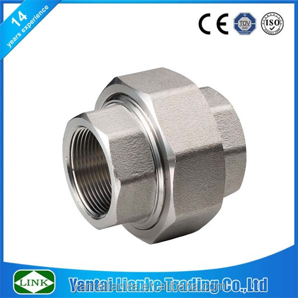 high pressure fitting Stainless Steel 304 flat seat union pipe Fitting without gasket