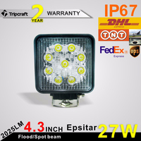 Super Bright 27W Led Work Light 27w led light atv 4x4 off road motorcycle headlight
