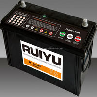 dry charged car battery N100 12v100ah