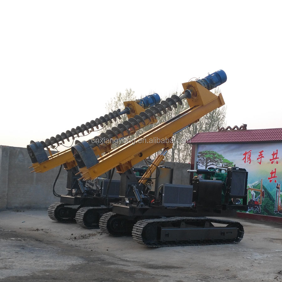 2017 hydraulic static photovoltaic /highway guardrail pile driver for excavator