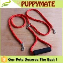Nylon Pet dog Leashes Two Way Double Leash Coupler Walk duplex dogs leash for 2 Dogs 1 Lead