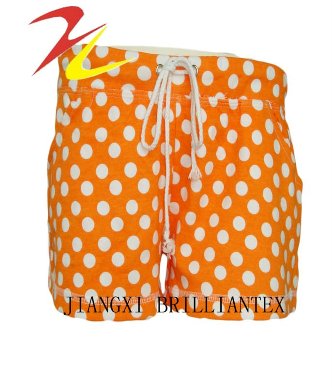 fashion cute all over printing french terry hot girls short pants