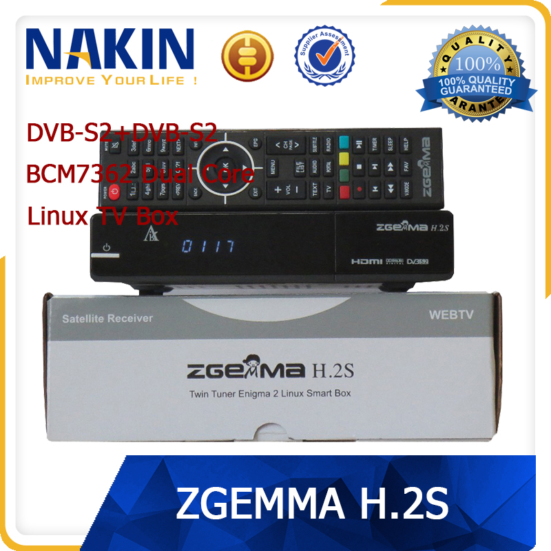 Genuine Zgemma H2S twin tuner dvb-s2 Dual Core satellite tv receiver