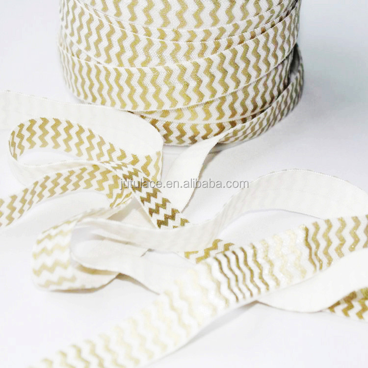 Hot sell fashion elastic FOE Wholesale , chevron elastic hair tie for men,decorative hair ties