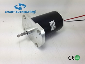 76mm high voltage 120v dc Brushed Motor , special flange, high speed 10000rpm