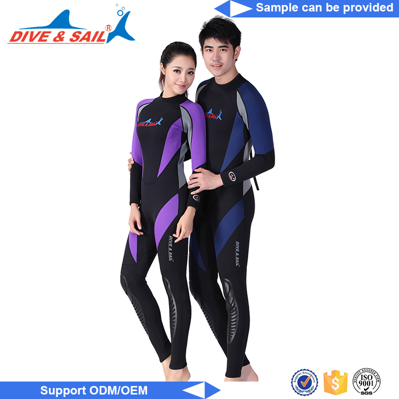 Custom logo men neoprene zipper wetsuit kayaking suit