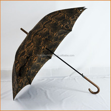 High Quality Promotional Custom Auto Open Windproof Advertising straight Umbrella with magic decorative pattern