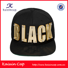 wholesale brand 3d gold letters bolted design your own 5 panel hat
