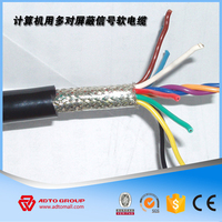 24 core flat traveling elevator cable/lift cctv cat6 flat cable