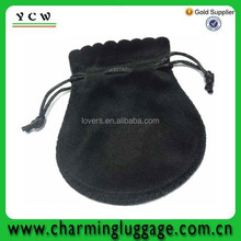 Shenzhen promote black suede jewelry pouch
