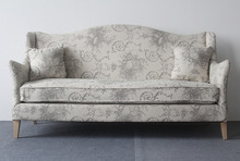 Classical Design two seat linen Vintage french sofa