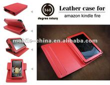 Border Rotation Leather Case for Amazon Kindle Fire