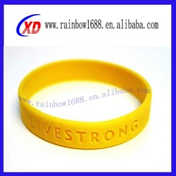 Promotional debossed Silicon Bracelet