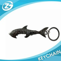 Shark Style Metal Bottle Opener Keychain Keyring Key Chain Ring