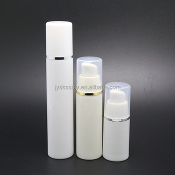 Packaging 15ml 30ml 50ml PP vacuum airless bottle with pump dispenser