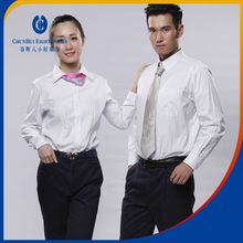 Daily formal office workers 100% cotton sweat suits designer blouses clothing for women with white cotton blouse fabric material