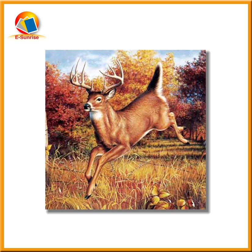 Animal 3D Lenticular Plastic Frameless Picture/Deer 3D Picture