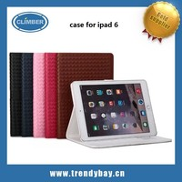 leather flip wallet case for ipad 6, for ipad air 2 case