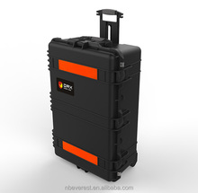 Ningbo Everest RPC3431 large hard plastic case shockproof flight case with easy open double throw latches and pull handle