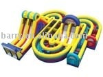 2016 hot interactive inflatable obstacle course jumpers/ giant inflatable playground