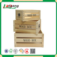 Wholesale customized cheap hot sale new style wooden box for cutlery fashion wood fruit packing box/wood fruit vegetable crate