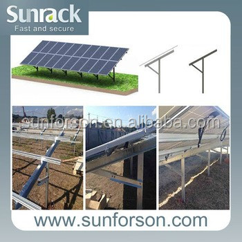 Sunforson Cost-effective Pile Mount Ground Solar Mounting