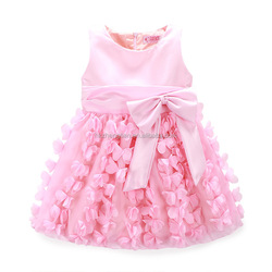 Adults Age Group and In-Stock Items Supply Type flower girl dress pink bow flower dress