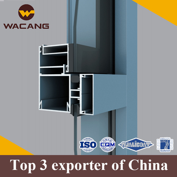 Extruding anodized oem alu curtain wall profile