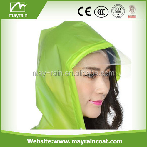 Waterproof resuable cheap ladies white pvc rain cape poncho