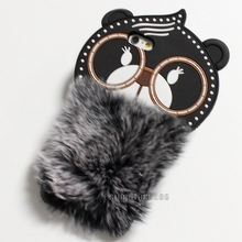 2018 Rabbit Fur Phone Cover 3D Cartoon Silicone Phone Case For iPhone 6