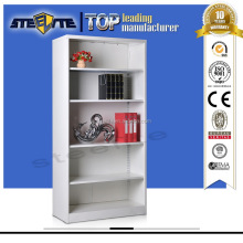 Steel Corner Bookcase / Modern Display Shelves / Steel Book Rack