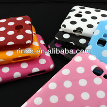 Polka Dots Soft TPU Back Phone Case Cover for Samsung Galaxy Note i9220 N7000 Case