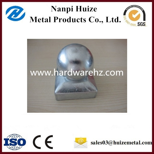 High Quality Galvanized Steel Round Fence Post Cap