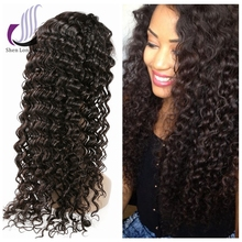 7A Peruvian Hair Wig Deep Curly Front Lace Human Hair Wigs for Black Women