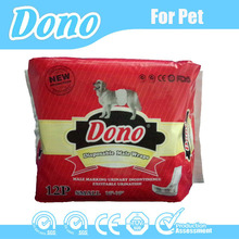 Disposable pet diaper for male dog