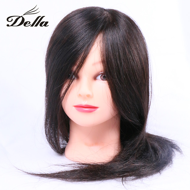 "24"" TOP 100% Real Human Hair Training Head Cosmetology Mannequin Doll"