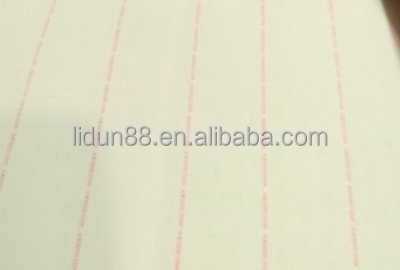 Recycled paper with watermark