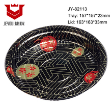 Round Food Tray Container Plastic Disposable Sushi Tray